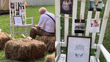 Photos Of Man Eating Next To Photo Of Late Wife At Granddaughter's Wedding Goes Viral
