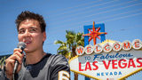 "FILE PHOTO: ""Jeopardy!"" sensation James Holzhauer speaks after being presented with a key to the Las Vegas Strip. Holzhauer will be back on ""Jeopardy!"" for the show's Tournament of Champions. (Caroline Brehman/Las Vegas Review-Journal/AP)"