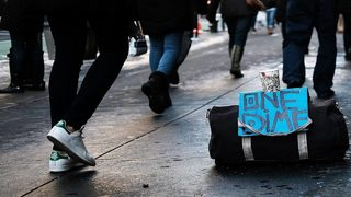 Florida man makes sign after panhandler rejects his job offer
