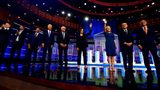 This June 27, 2019 file photo shows Democratic presidential candidates on the second night of the Democratic primary debate in Miami. The next debate is set for July 30 and 31 in Detroit. (AP Photo/Brynn Anderson, File)