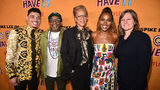 "Anthony Ramos, Spike Lee, Tonya Lewis Lee, DeWanda Wise and Cindy Holland attend the ""She's Gotta Have It"" Season 2 Premiere at Alamo Drafthouse on May 23, 2019, in Brooklyn, New York."