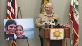 Sonoma County Sheriff Steve Freitas announces the arrest in 2017 of Shaun Gallon in the slayings of Jason Allen and Lindsay Cutshall, pictured at left, as the couple slept on a beach near Jenner in July 2004. Gallon, 40, has been sentenced to life.