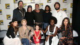 Ryan Hurst, Norman Reedus, Jeffrey Dean Morgan, Avi Nash and Cooper Andrews, Nadia Hilker, Melissa McBride, Cailey Fleming, Danai Gurira and Eleanor Matsuura attend The Walking Dead Panel at Comic Con 2019. (Photo: Jesse Grant/Getty Images for AMC)