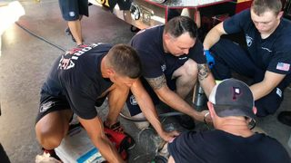 Arizona firefighters save bulldog from heat exhaustion