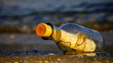 FILE PHOTO: A message in a bottle was discovered on Florida's Gulf Coast after a 24-year trip.