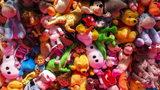 A razor blade was found inside a stuffed plush boy won at a Maryland carnival Saturday evening.