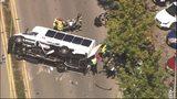 Investigators said crash involved a Marriott shuttle bus and a single-occupant vehicle. (KIRO7.com)