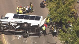 SEE: Shuttle Bus in Seattle Rolls Over, 1 Killed, 7 Injured