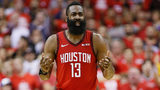 FILE PHOTO: James Harden of the Houston Rockets gave $10,000 to a family who was fishing for their food in Nassau.