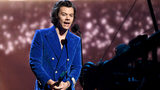 Harry Styles speaks onstage at the 2019 Rock & Roll Hall of Fame Induction Ceremony on March 29, 2019, in New York City.