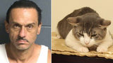 Man arrested after choking cat and force-feeding it meth