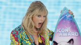 Taylor Swift accepts the Icon award at the Teen Choice Awards on Sunday, Aug. 11, 2019, in Hermosa Beach, Calif.