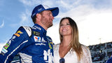 Dale Earnhardt Jr. and his wife Amy (Photo by Jared C. Tilton/Getty Images)
