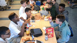 Students at Drew Charter School eat lunch Friday, Aug. 9, 2019.