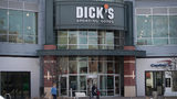 A sign hangs outside of a Dick's Sporting Goods store on February 28, 2018, in Chicago, Illinois.