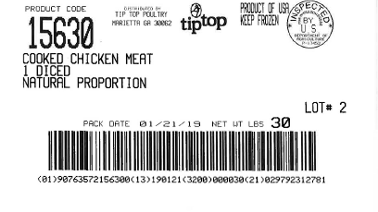 Recall alert: 135K pounds of chicken recalled due to