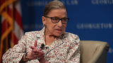 U.S. Supreme Court Associate Justice Ruth Bader Ginsburg participates in a discussion at Georgetown University Law Center July 2, 2019 in Washington, DC.