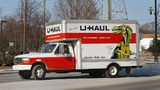 A U-Haul truck departs from a U-Haul store January 23, 2003, in Morton Grove, Illinois.