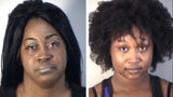 Michelle Vickers, left, and Marquista Stafford are charged with neglect of a disabled adult for not intervening in the Aug. 13, 2019, beating of a woman at a Mount Dora, Florida, group home. Surveillance cameras captured footage of the beating.