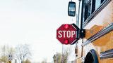 Speeding car almost hit child getting off school bus