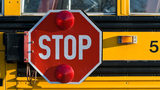 FILE PHOTO: A car sped past a stopped school bus at the same moment a kindergarten student tried to cross. The event was caught on video.