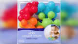 Plastic Ubbi Connecting Bath Toys with a big circle and six smaller circles connected together can break and cause cuts or a choking hazard to children, the Consumer Product Safety Commission said.