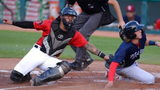 Catcher Chace Numata, left, played in the minor leagues for 10 years and spent the 2019 season with the Erie SeaWolves.