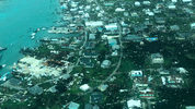 This aerial photo provided by Medic Corps, shows the destruction brought by Hurricane Dorian on Man-o-War cay, Bahamas, Tuesday, Sept.3, 2019. Multiple cruise line companies have pledged to help the region recover from the storm.