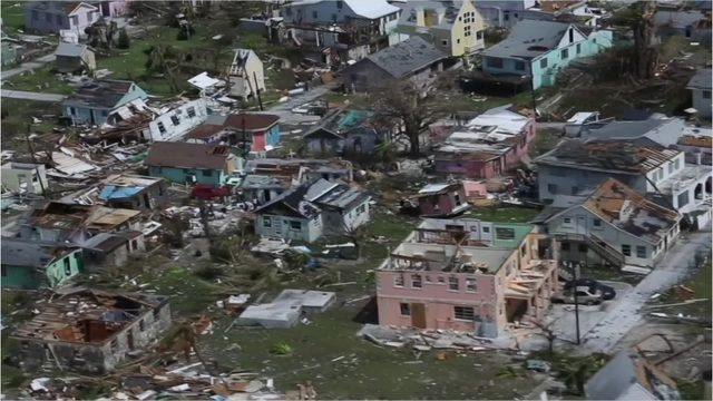 Hurricane Dorian: Bahamian man watches helplessly as storm