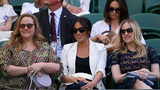 Meghan Markle, Duchess of Sussex watches a match at Wimbledon where Serena Williams was playing in July. The Duchess will fly to the U.S. to watch her friend compete in the U.S. Open.