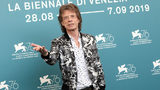 "The Rolling Stones' Mick Jagger attends ""The Burnt Orange Heresy"" photocall during the 76th annual Venice Film Festival at Sala Grande on Sept. 7, 2019, in Venice, Italy."