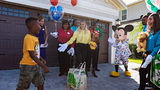 Seven-year-old Jermaine Bell gets the surprise of a lifetime when Mickey Mouse shows up at his birthday party Sept 8, 2019.