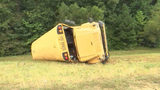 Multuple children are injurued and the bus driver is dead after a school bus overturned in Mississippi.