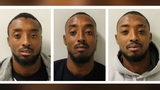 Identical triplets, from left, Ralston, Reiss and Ricky Gabriel, 28, of London, have been convicted of possessing firearms with the intent to endanger life. The men were identified as suspects through DNA found on a handgun seized in April 2017.