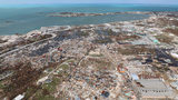 The destruction caused by Hurricane Dorian is seen from the air, in Marsh Harbor, Abaco Island, Bahamas, on Sept. 4, 2019.