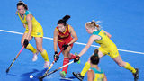Imagine this pre-Olympic women's field hockey match between Australia and China at the Hockey Tokyo 2020 Test Event in Japan on Aug. 21, 2019, being stopped for a fireworks display. That's what happened to Temple and Maine at Kent State on Saturday.