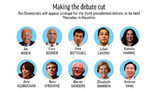 Ten Democratic presidential candidates will participate in the third debate. (Photo: AP)