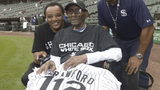 CP Crawford was given uniform No. 112 to celebrate his age and his first visit to a Chicago White Sox baseball game.