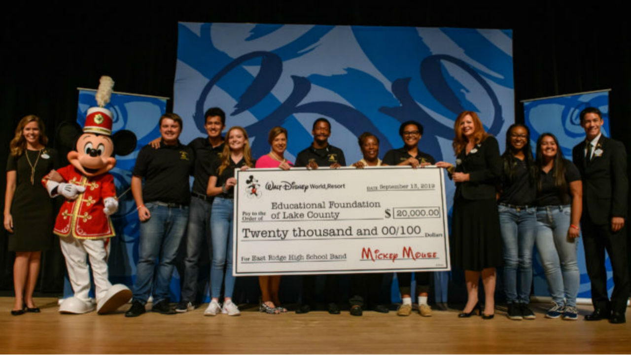 Disney donates $20,000 to high school band that lost instruments in fire