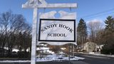 SANDY HOOK, CT - A sign stands near the site of the December 2012 Sandy Hook school shooting on the day of the National School Walkout on March 14, 2018 in Sandy Hook Connecticut. Photo by John Moore/Getty Images