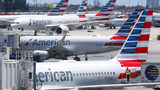 American Airlines aircraft are shown parked at their gates at Miami International Airport in Miami. A bail hearing is scheduled for a mechanic charged with sabotaging an American Airlines jetliner as part of a labor dispute.