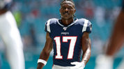 FILE PHOTO: Antonio Brown has been released by the Patriots, team officials said.