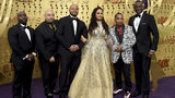 Ava DuVernay, center, is joined by Antron McCray ,Raymond Santana, Kevin Richardson, Korey Wise and Yusef Salaam, of the Central Park 5, during arrivals of the 71st Primetime Emmy Awards on Sunday, Sept. 22, 2019.