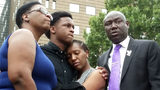Allison Jean and her children, Brandt Jean and Allisa Charles-Findley, are pictured with attorney Ben Crump, far right, last year. Jean's son, Botham Jean, was fatally shot Sept. 6, 2018, by Amber Guyger, a neighbor and off-duty police officer.