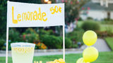 Around 30 bikers visit girl's lemonade stand to show appreciation for mother