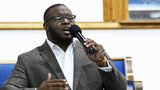 Botham Jean is pictured singing as a student at Harding University in Searcy, Ark. Jean, 26, was killed in his Dallas apartment Sept. 6, 2018, by his neighbor, police officer Amber Guyger. The ex-cop was convicted Tuesday, Oct. 1, 2019, of murder.
