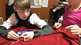 'It's basically God hugging you' teen who survived 2 tumors creates prayer blankets