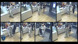 In surveillance footage from police in Southlake, Texas, a man wearing a shark onesie is seen at a McDonald's restaurant Saturday, Sept. 28, 2019. The man is accused of violently shoving the manager of the restaurant after behaving erratically.