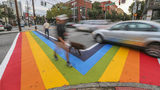 In Atlanta, the crosswalk at 10th and Piedmont at the southwest corner of Piedmont Park resonates emotionally with many in Atlanta's LGBT community, according to Jeff Graham, executive director of Georgia Equality. (JOHN SPINK /JSPINK@AJC.COM)