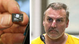 Brian Steven Smith, 48, of Anchorage, Alaska, is shown Wednesday, Oct. 9, 2019, during his arraignment for murder. Smith was arrested after police linked him to an SD card, similar to the one pictured, containing footage of a woman's brutal killing.